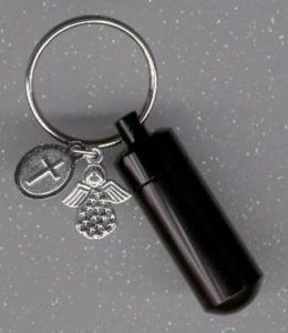 Memorial jewelry keyring