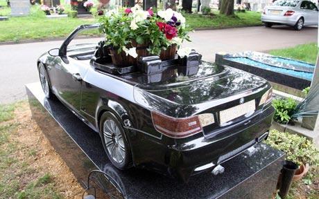 BMW headstone