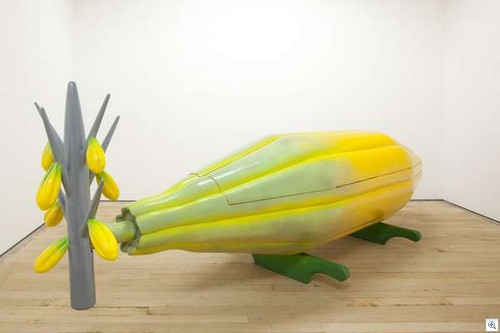 Corn carved coffin