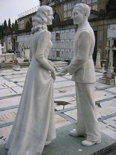Unusual tombstone Italy